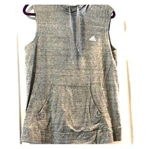 Women's Grey medium adidas sleeveless hoodie
